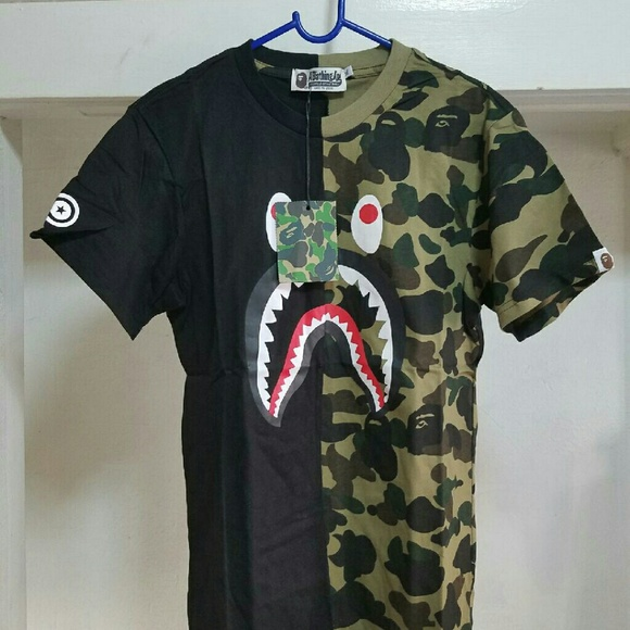 bba2c39f0e73 A Bathing Ape Shark Camo T.Shirt